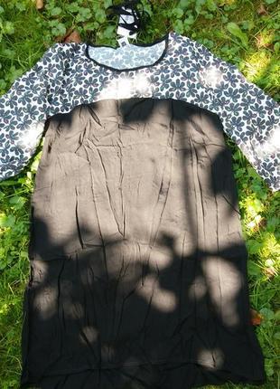 Платье с вышивкой, черное платье размер m