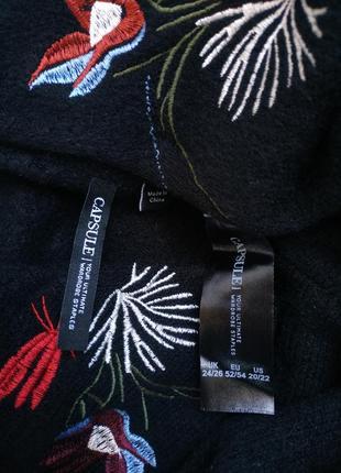 Красивый джемпер capsule с вышивкой красивых цветов, модного прямого кроя оверсайз8 фото
