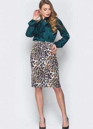 Леопардовая юбка,размер м