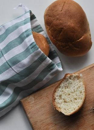 Бавовняний мішечок для багета, еко-мішечки, торбинка для хліба эко мешочек для багета