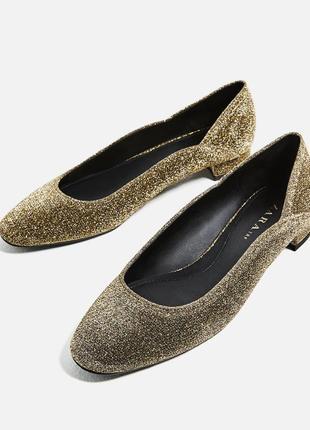 Нарядные блестящие туфли/балетки