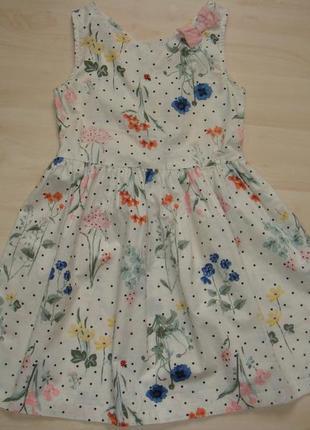 Батистовое платье 5-6 лет