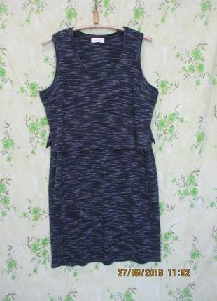 Трикотажное платье платье с топом