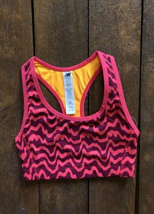 Спортивный топ new balance print perfomance bra {оригинал}