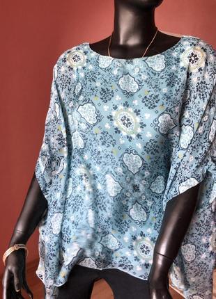 Блуза шелк, kappahi оверсайз, размер 44, 46, 48