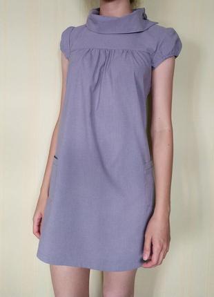Платье с рукавом-фонарик
