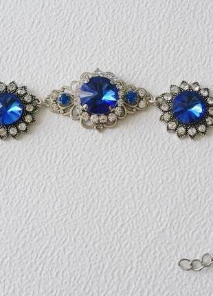 Элегантный браслет с кристаллами.