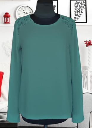 Блуза свободного кроя с кружевной кокеткой primark
