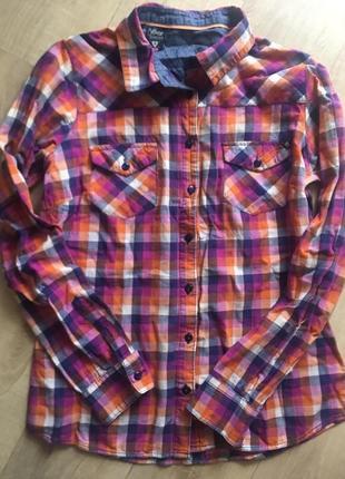 Стильная рубашка house, рубашка в клетку house, фирменная рубаха на осень