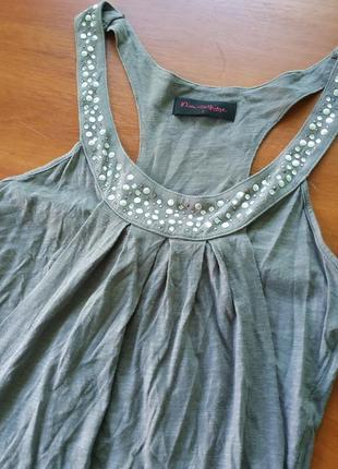 Серое хлопковое платье/туника miss selfridge