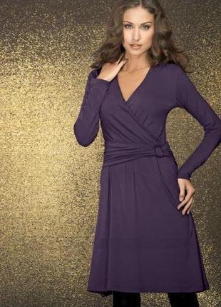 Элегантное платье из вискозы на любой случай от тсм (германия) размер 40 евро=46-48