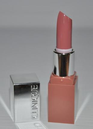 Матовая губная помада clinique pop matte lip colour + primer  тон 1 blushing pop