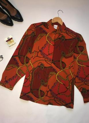 Стильная рубашка винтаж / актуальный рисунок