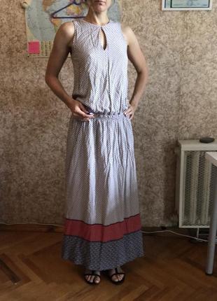 Длинные летние хлопковые платья