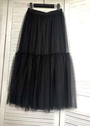 Стильная,шикарная юбка с оборкой (s/m см.замеры)