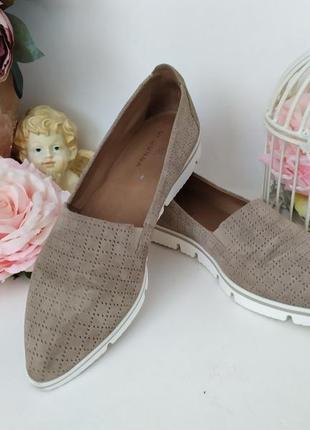 Замшевые туфли лоферы слипоны 39р. с острым носком di donna италия