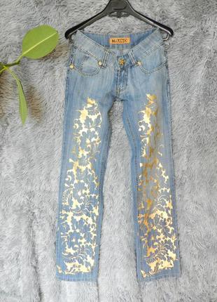 ✅ джинсы с напылением