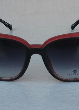 Givenchy очки женские солнцезащитные черно красные