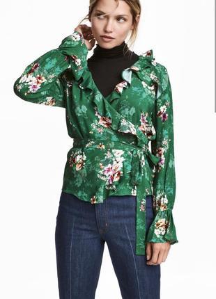 Блузка на запах h&m