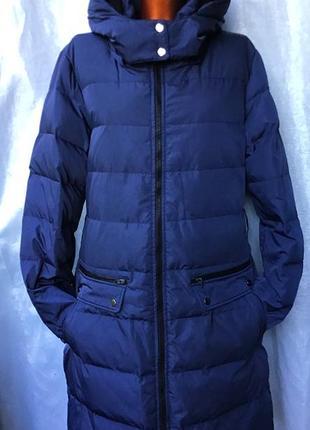 Фирменный пуховик синего цвета из прочной водоотталкивающей ткани от vero moda