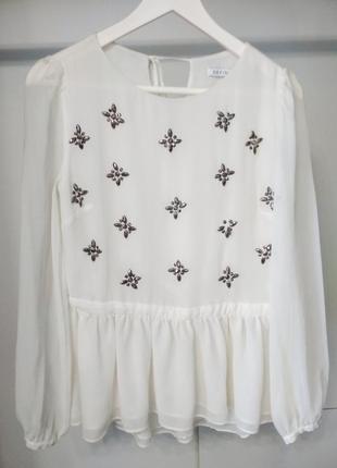 Блузка шыфоновая с рюшами