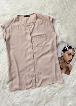 Блуза, розовая, рожева, пудрова, пудра, шифоновая, шифонова, atmosphere