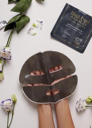 Petitfee black pearl & gold hydrogel mask. гидрогелевая маска для лица от petitfee.