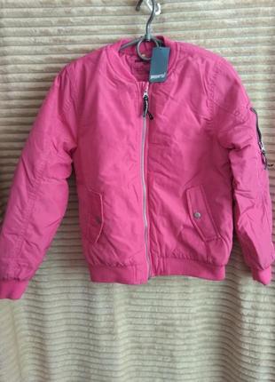 Розовая демисезонная куртка pepperts!