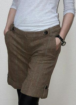 Шерстяные длинные шорты