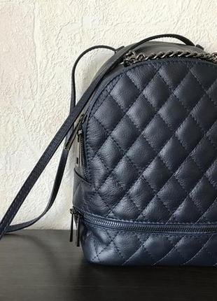 Сумка-рюкзак 29345 стеганый /италия/ m синий