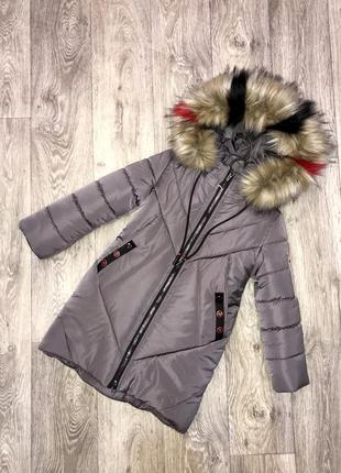 Красивое тёплое зимнее пальто, новинка!