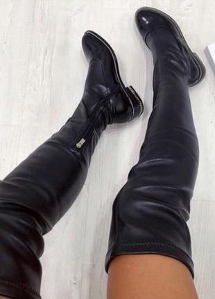 Шикарные ботфорты сапоги чулки givenchy
