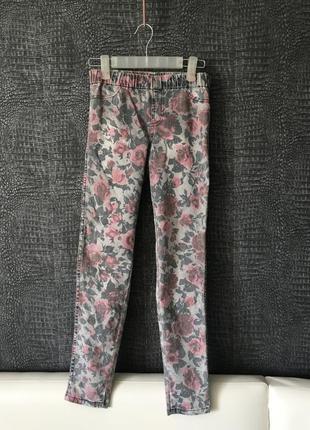 Акция!!! джинсы на девочку с модным принтом ,next