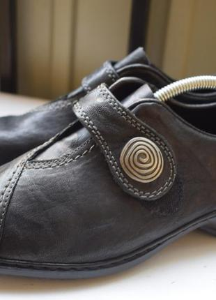 Кожаные туфли мокасины полуботинки