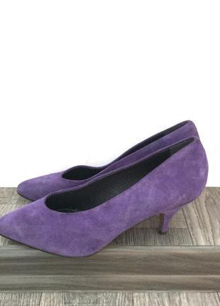 Новые замшевые туфли натуральный замш