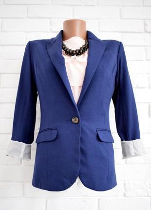 Стильный трикотажный приталенный пиджак h&m uk6 в идеальном состоянии
