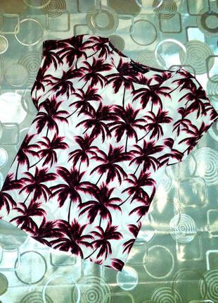 Блузка с пальмами
