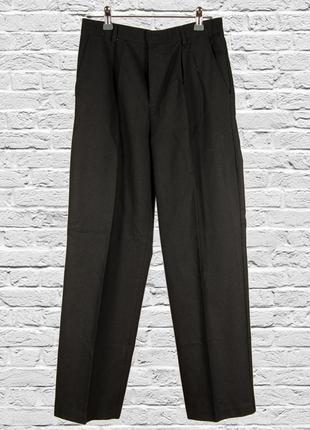 Прямые классические штаны женские, черные штаны свободные, черные брюки классические