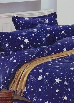Комплект постельного белья евро 3d, фланель
