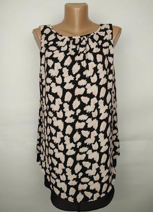 Блуза новая двухслойная стильная с v-образным вырезом на спинке uk 12/40/m