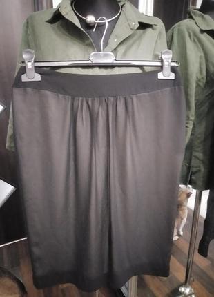 Двухслойная шифоновая миди юбка узкая
