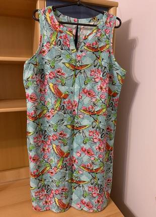 Льняное платье george