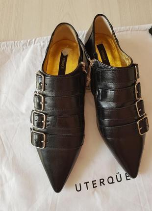 🔥классические кожаные туфли,полу ботинки uterqüe