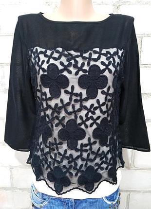 Нежная кружевная блуза на подкладке be beau