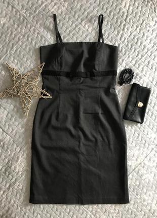 Платье в офисном стиле в мелкую полоску