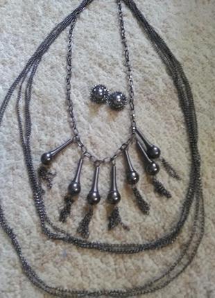 Очень красивый комплект украшений, ожерелье и серьги