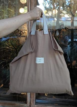 Шоппер сумка оверсайз для покупок эко сумка