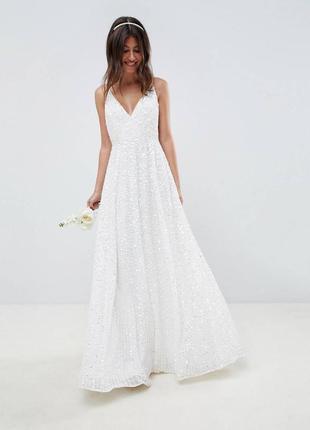 Свадебное платье 🔥 ручная вышивка 💖 пайетки