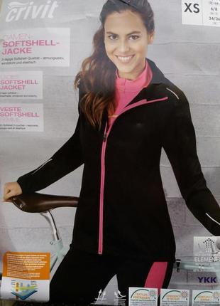 Фирменная не продуваемая вело куртка  женская от crane германия р. xs 32/34 евро