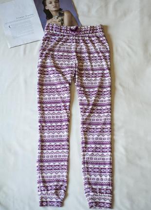 Красивенные пижамные белые штаны с принтом new look, размер s